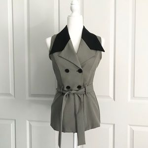 Vintage Button Up Womens Vest Medium
